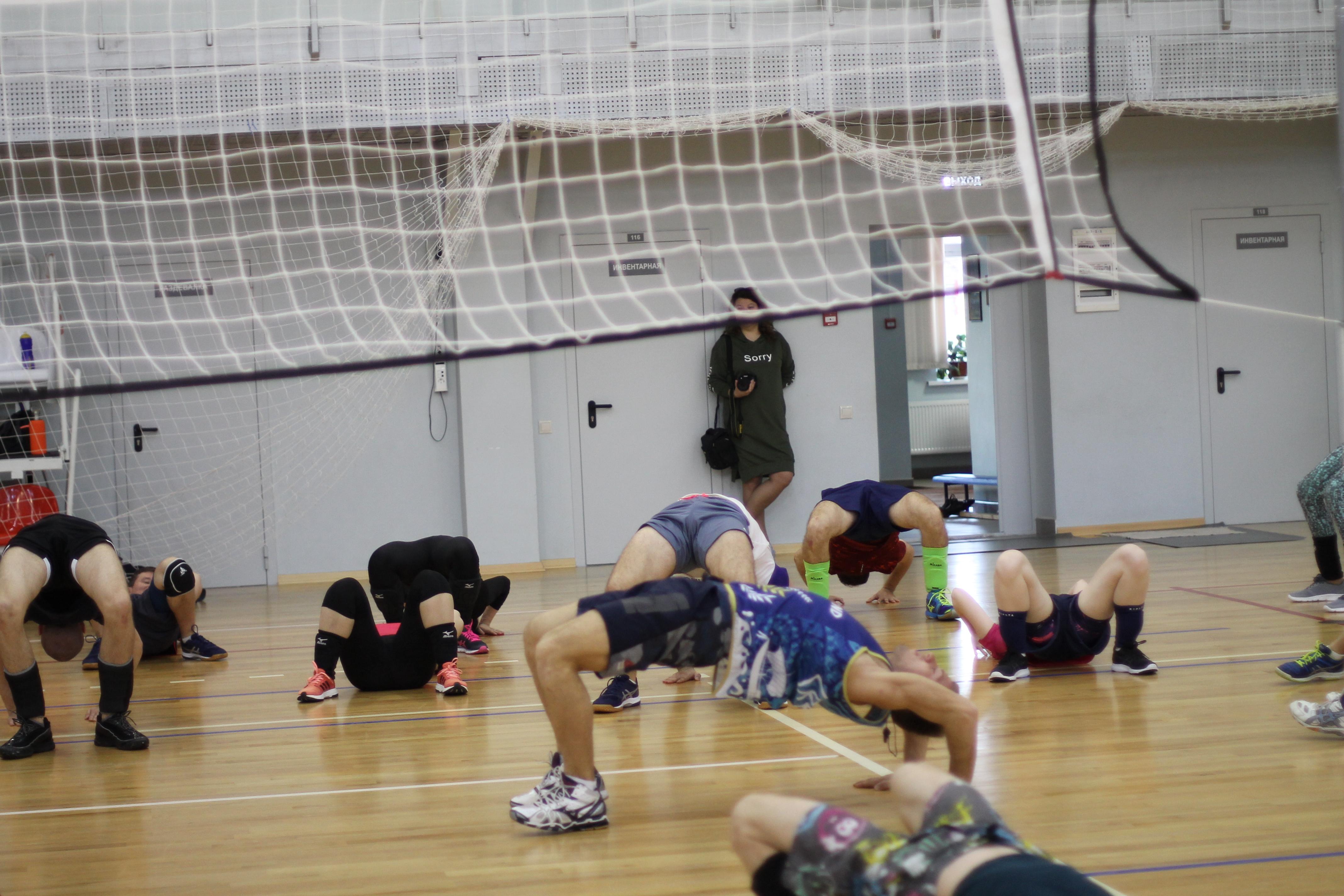 Комплекс упражнений по волейболу